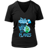 Wet Plants V-Neck T-Shirt