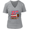 Chocolate V-Neck T-Shirt