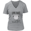 Live Fast, Cook Slow V-Neck T-Shirt