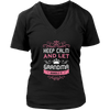 Keep Calm Grandma V-Neck T-Shirt