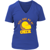 Cheese V-Neck T-Shirt