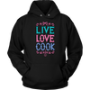 Live Love Cook Hooded Sweatshirt