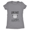 Live Fast, Cook Slow Ladies T-Shirt