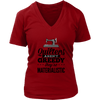 Quilters Aren't Greedy V-Neck T-Shirt