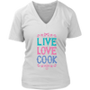 Live Love Cook V-Neck T-Shirt