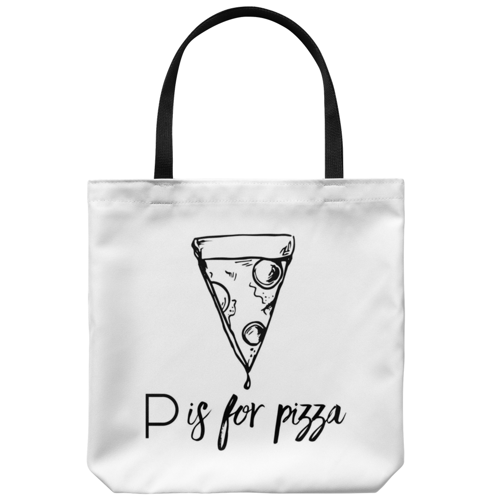 P is for Pizza Tote Bag
