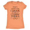 Drink and Throw Footballs Ladies T-Shirt