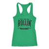 They See Me Rollin' Ladies Racerback Tank