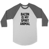 Bacon Is My Spirit Animal Baseball Tee