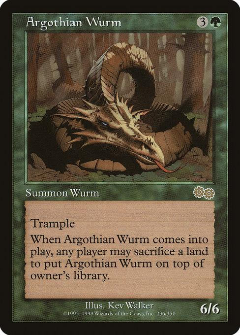 Argothian Wurm - Magic The Gathering - Singles - - Dice Bag Games
