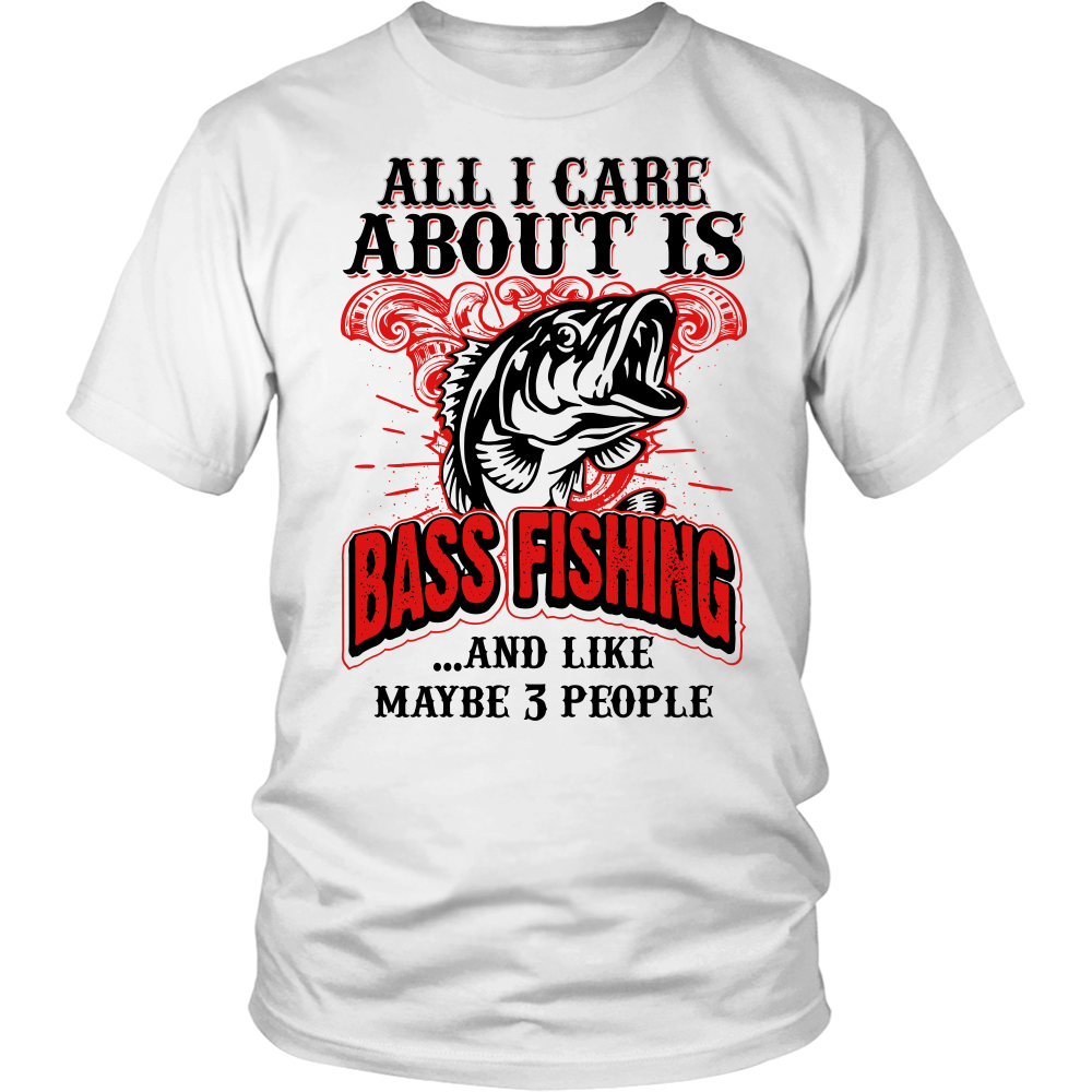 All i care about is bass fishing t shirt bass smashers Fishing t shirts
