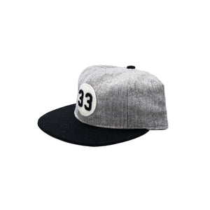 33 Hat - Grey & Black
