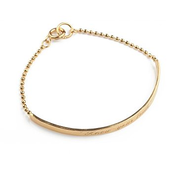 Stand In Your Power Gold Plated Friendship Bracelet