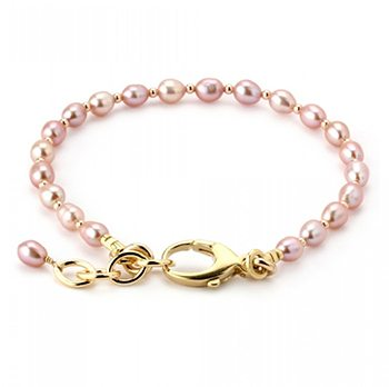 Lollies Breast Cancer Awareness Pink Pearl Bracelet