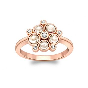 Pimlico Rose Gold Diamond and Moonstone Bubble Cluster Ring