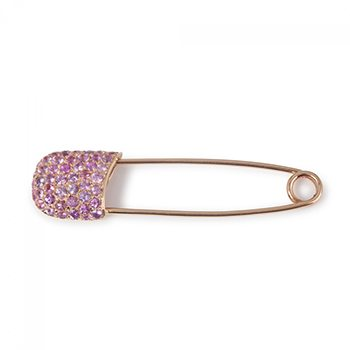 Pink Sapphire Pin in 18K Rose Gold
