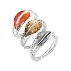 Set Of 3 - Autumn Leaves Rings