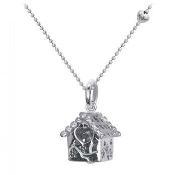 Silver House Heart Window Necklace