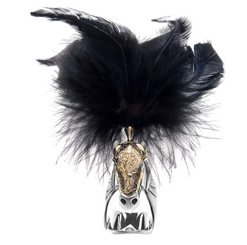 Jewelled Plumed Horse Ring