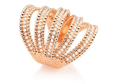 Fountains Rose Gold Ring