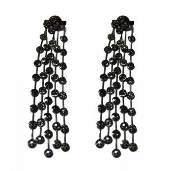 Universe Pave Earrings with Black Diamonds