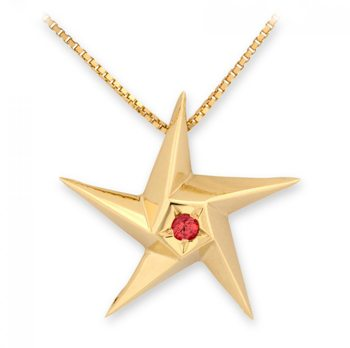 Heart Of A Star Ruby Pendant