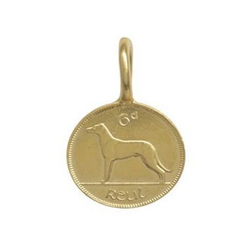 Irish 6 Pence Gold Plated Coin