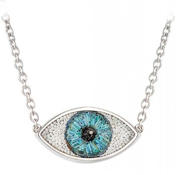 Eye Necklace With Paraiba Tourmalines