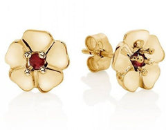 Gold And Ruby Cotswold Earrings