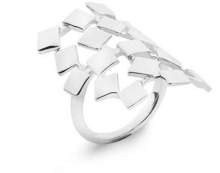 Square Ring Puzzle Polished Sterling Silver