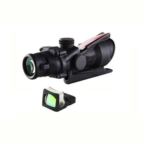 ACOG 4x32mm Dual Illuminated Scope - Red Crosshair .223 Reticle with 7.0 MOA RMR Sight, Black