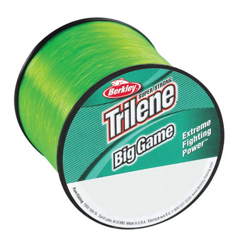 "Trilene Big Game Monofilament Line Spool - 370 Yards, 0.024"" Diameter, 40 lb Breaking Strength, Solar Collector"