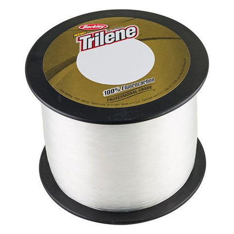 "Trilene 100% Fluorocarbon Professional Grade Line Spool - 2000 Yards, 0.017"" Diameter, 20 lbs Breaking Strength, Clear"