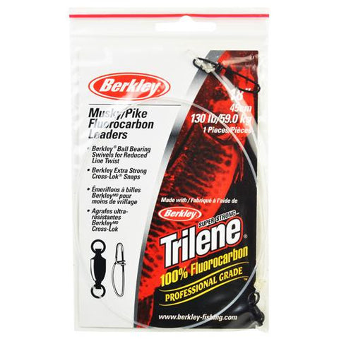 "Trilene Fluorocarbon Leaders Terminal Tackle - 18"", 0.048"" Line Diameter 130 Line Pound Test"