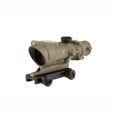 ACOG 4x32mm Dual Illuminated Scope - Red Crosshair .223 Ballistic Reticle with TA51 Mount, Cerakote Flat Dark Earth