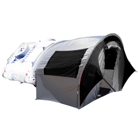 TAB Trailer Side Tent for NuCamp, Little Guy, Dutchman Regular TAB Trailers - Silver-Black