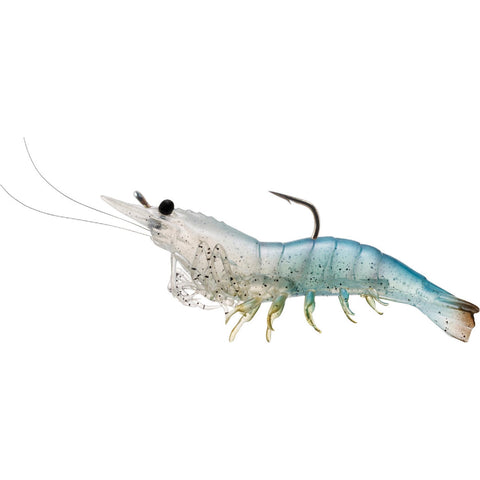"Rigged Shrimp Soft Plastic - Saltwater, 4"", #2-0 Hook, Variable Depth, White Shrimp, Per 4"