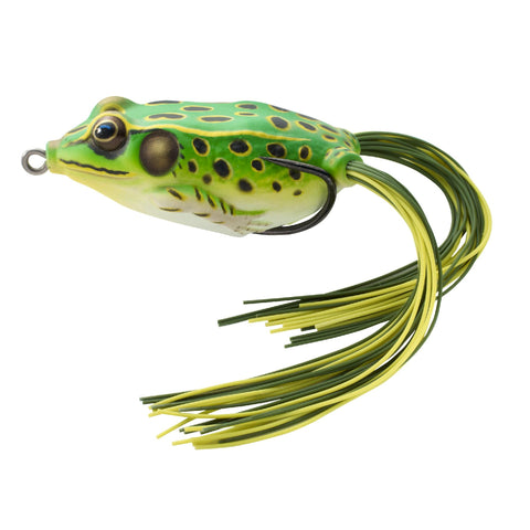 "Frog Hollow Body - Freshwater, 1 3-4"", #1 Hook, Topwater Depth, Floro Green-Yellow"