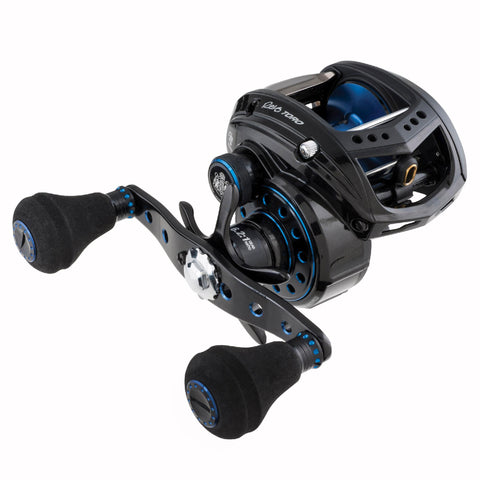 "Revo Toro Beast Low Profile Reel - 61, 4.9:1 Gear Ratio, 8 Bearings, 27"" Retrieve Rate, 25 lb Max Drag, Left Hand"