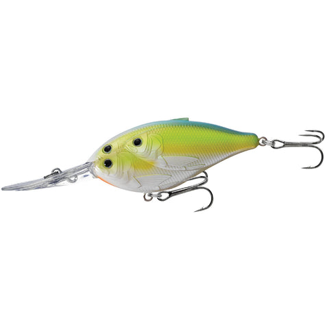 "Threadfin Shad Crankbait - Freshwater, 2 3-4"", #4 Hook, 12' Depth, Chartreuse-Pearl-Blue"