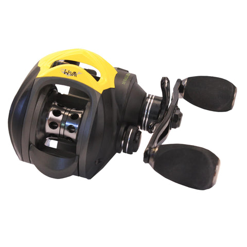 Wright & McGill SR Victory II Casting Reel - Low Profile, 6.3:1 Gear Ratio, 9+1 Bearings, Black,Right Hand