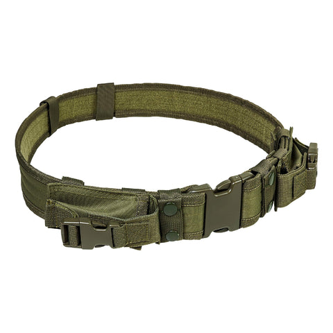 Vism Tactical Belt with Two Pouches - Green