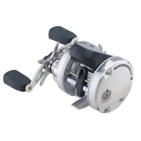 "Ambassadeur s Line Counter Baitcast Round Reel - 6500, 5.3:1 Gear Ratio, 3 Bearing, 25 1-2"" Retrieve Rate, Right Hand, Boxed"