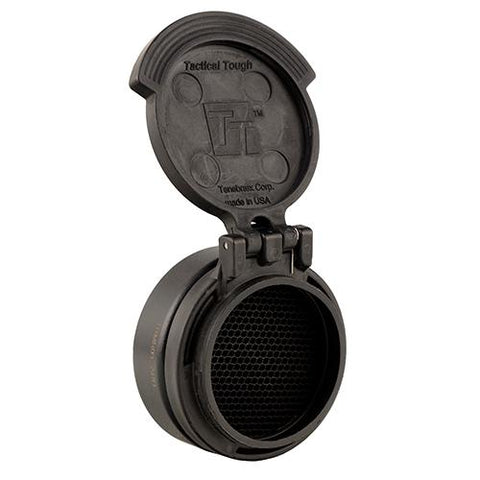Miniature Rifle Optic (MRO) Slip On Flip Cap - Tenebraex Anti-Reflection Device with Objective, MRO's, Black