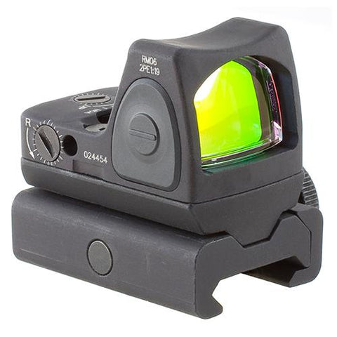 RMR Type 2 Adjustable LED Sight - 3.25 MOA Red Dot Reticle with RM34W Weaver Rail Mount, Black