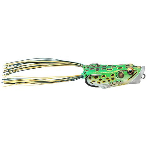 "Frog Body Hollow Body Popper Bait - Freshwater, 2"" Length, 3-8 oz Weight, Green-Yellow, Per 1"