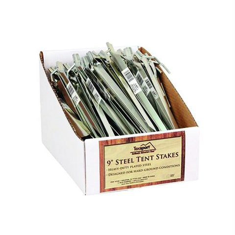 "9"" Steel Stakes, Package of 100"
