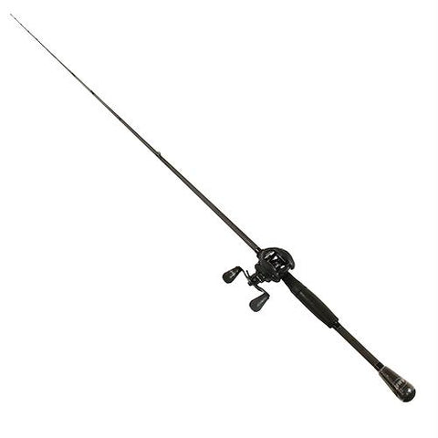 Custom Black LFS Baitcasting 1 Piece Combo - 7.5:1 Gear Ratio 20 lb Max Drag, 7' Length, Medium Power, Right Hand