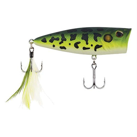 "Bullet Pop Hard Bait Lure - 2 3-4"" Length, 2-5 oz, Topwater, MF Frog, Package of 1"