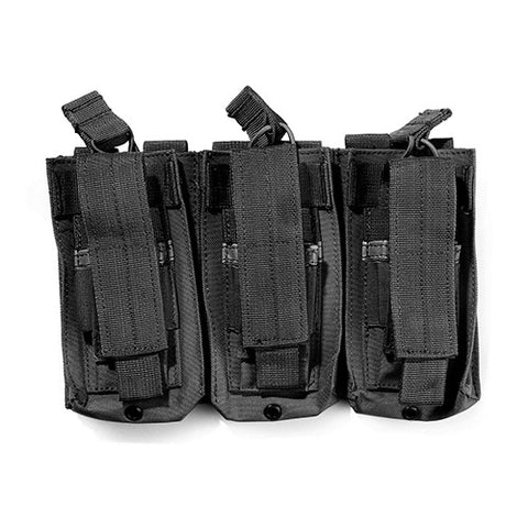 Tri-Double Molle mag pouch - black (holds